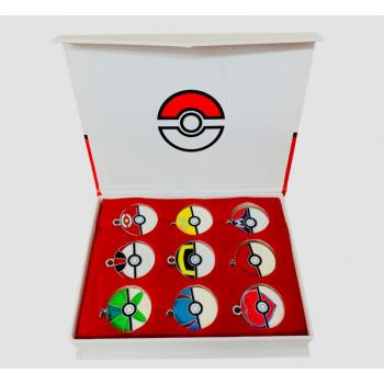 9pcs - Pokémon Charms Pokemon Balls Caja Coleccionable