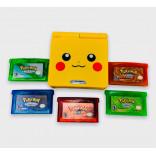 Pikachu Gameboy Advance SP Bundle Con Juegos de Pokemon