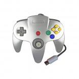 Original Nintendo 64 Control Plateado - N64 Control Estilo Plateado Metalico