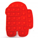 Red Spaceman Bubble Popper - Among Us Pop It Toy