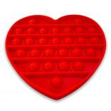 Red Heart Popping Toy - Red Heart Pop It Fidget Toy