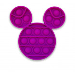 Purple Pop It Toy - Popping Toy Mickey Mouse Style Head
