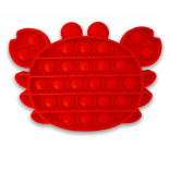 Red Crab Popit - Crab Pop It Fidget Toy