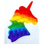 Unicorn Popping Toy - Rainbow Unicorn Pop It Fidget Toy