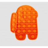 Orange Among Us Pop Toy - Among Us Pop It